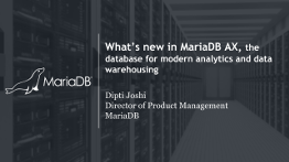 MariaDB AX webinar: what's new