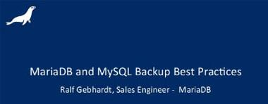 Webinar: MariaDB und MySQL Backups - German, 18. June 2015