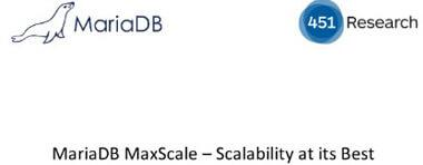Webinar: MariaDB MaxScale - Scalability at its Best - 15. January 2015