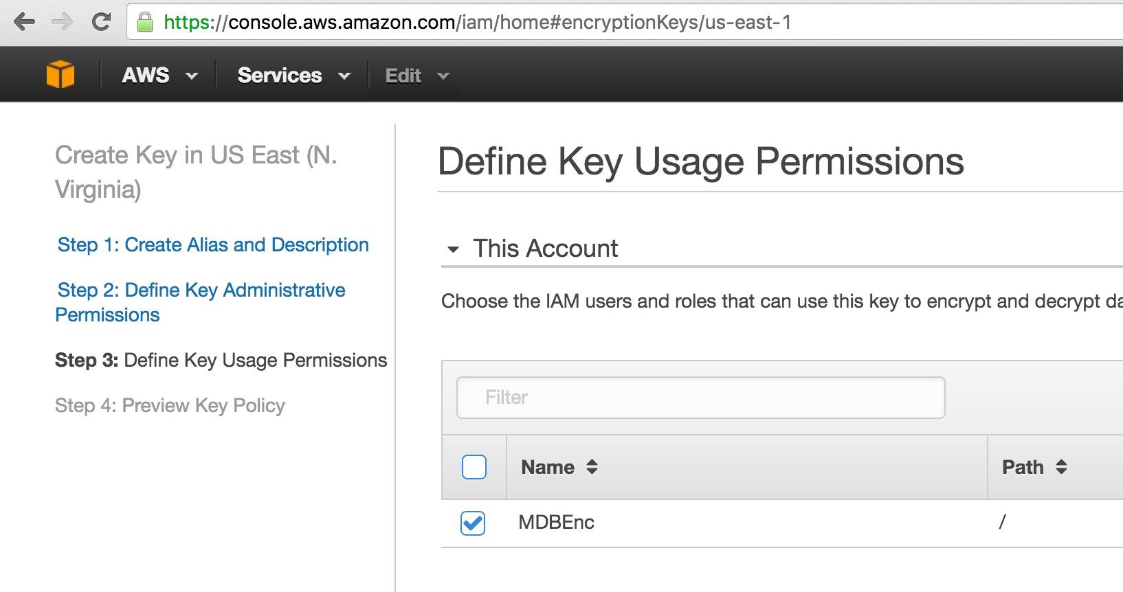 Amazon Web Services (AWS) Key Management Service (KMS