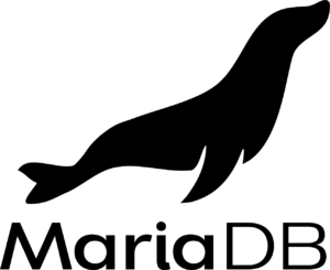 MariaDB official logo: black vertical png