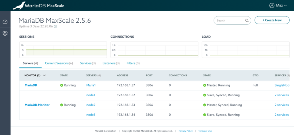 MariaDB MaxScale Configuration
