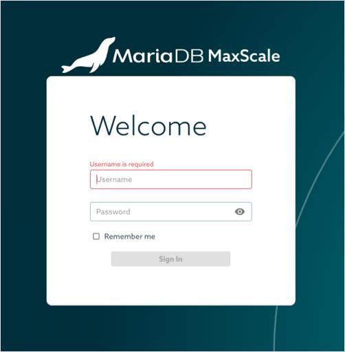MariaDB MaxScale login